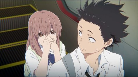 "Shouko bumps into Shoya in a scene from ""A Silent Voice,"" a show about a deaf girl and her bully who later become friends and form a relationship."
