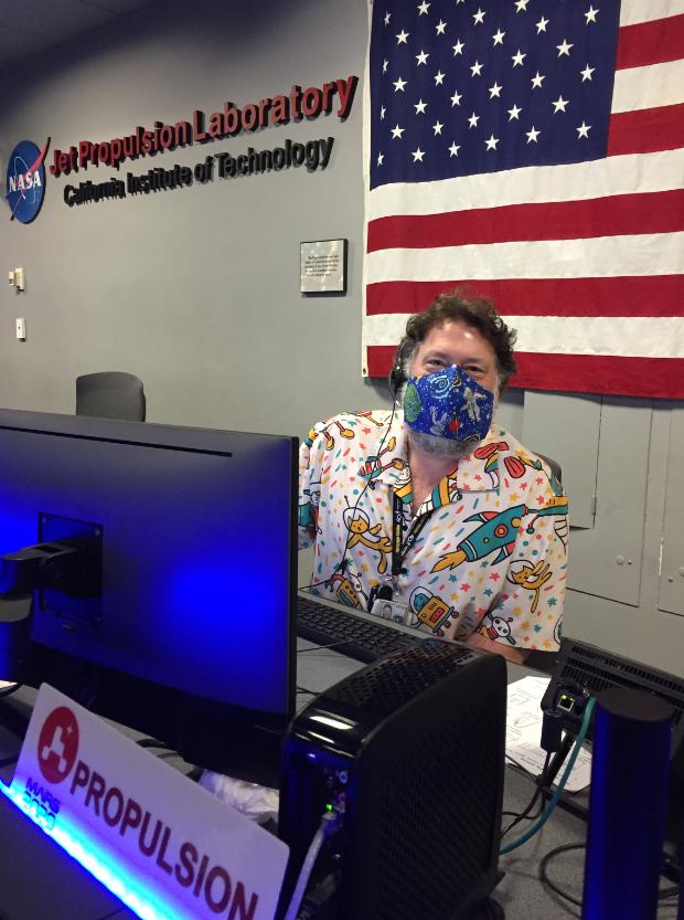 Todd Barber at work at NASA's Jet Propulsion Laboratory.